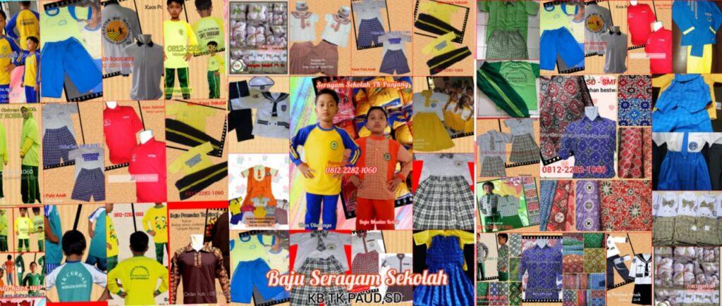 terbaru harga baju seragam sekolah anak SDIT di Serang Banten